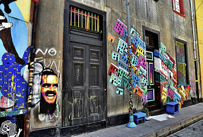 Photograph - Chile - Jack Nicholson Graffiti by Jeremy Hall