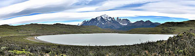 Photograph - Chile - Laguna Amarga And Torres Del Paine Mountains by Jeremy Hall