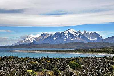 Photograph - Chile - Lake Sarmiento And Torres Del Paine Mountains - Patagonia by Jeremy Hall