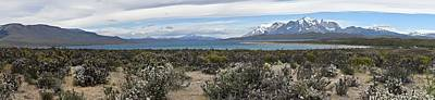 Photograph - Chile - Patagonia - Lake Sarmiento And Torres Del Paine Mountains by Jeremy Hall