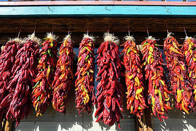 Photograph - Chili Ristras At The Market  by Kathleen Bishop