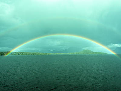 Photograph - Chilean Fjord Rainbow by Gary Karlsen