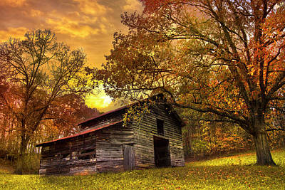 Appalachia Wall Art - Photograph - Chill Of An Early Fall by Debra and Dave Vanderlaan