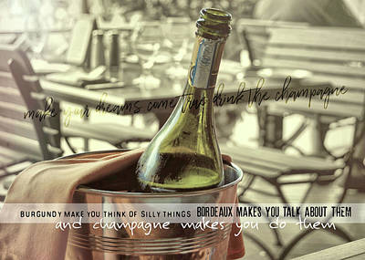 Photograph - Chill To Taste Quote by JAMART Photography