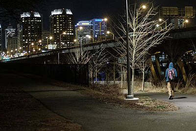 Photograph - Chilly Walk Outside The City by Doug Ash