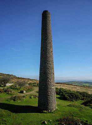 Photograph - Chimney Stack South Kit Hill Mine Cornwall by Richard Brookes