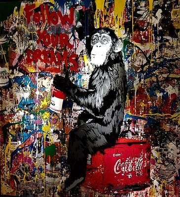 Photograph - Chimp A Cola by Rob Hans