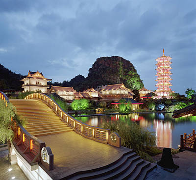 Photograph - China, Guangxi Province, Guilin, Gold by Martin Puddy