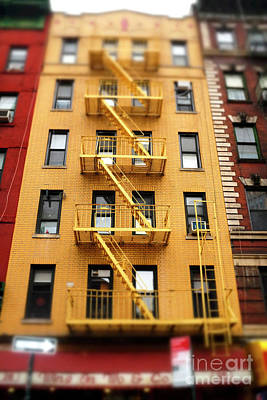Photograph - Chinatown Fire Escape New York City by John Rizzuto