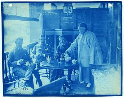 Painting - Chinese Cafe  Cyanotype Photograph By Thomas Smillie by Celestial Images