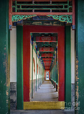 Photograph - Chinese Corridor by Inge Johnsson