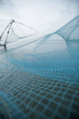 Photograph - Chinese Fishing Net At A Harbor, Cochin by Exotica.im