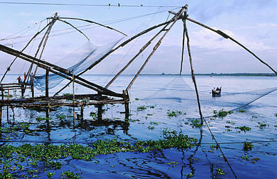 Kerala Photograph - Chinese Fishing Nets by Richard Ianson