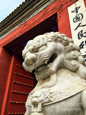 Photograph - Chinese Guardian Lion by Iryna Liveoak
