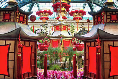 Photograph - Chinese New Year Decorations At Bellagio, Las Vegas by Tatiana Travelways