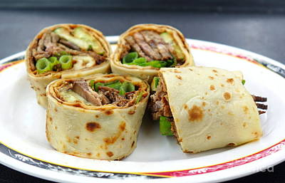Photograph - Chinese Pancake Roll With Cooked Beef by Yali Shi