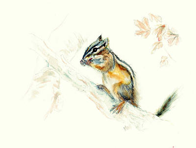 Painting - Chipmunk by Philip and Karen Rispin