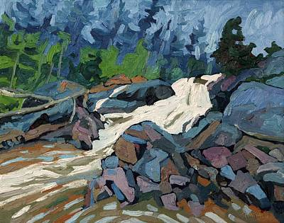 Painting - Chippewa Falls Batchawana Bay by Phil Chadwick