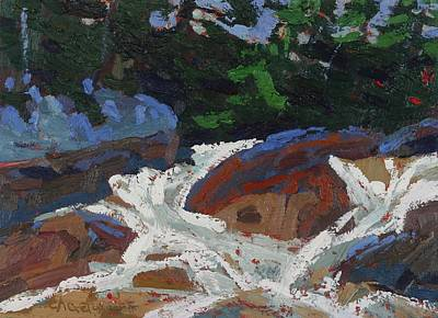 Painting - Chippewa Falls Cascade by Phil Chadwick