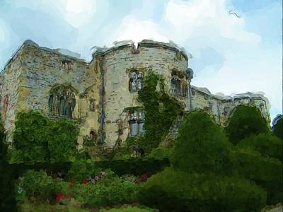 Digital Art - Chirk Castle Painting by JLowPhotos