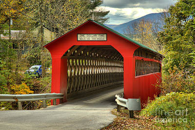 Photograph - Chiselville Covered Bridge by Adam Jewell