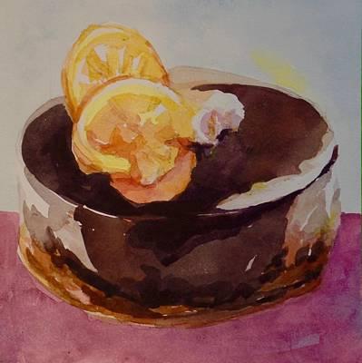 Painting - chocolate Cake  by Jo Mackenzie