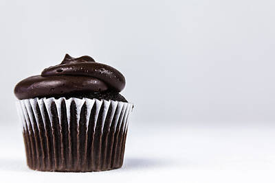 Photograph - Chocolate Cupcake by Jeanette Fellows