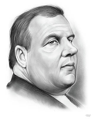 Drawing - Chris Christie by Greg Joens