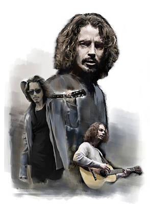 Painting - Chris Cornell Enough Said by Iconic Images Art Gallery David Pucciarelli