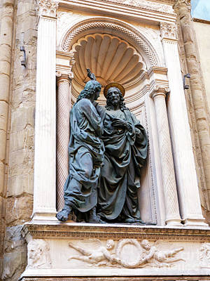 Photograph - Christ And St. Thomas At The Orsanmichele Florence by John Rizzuto