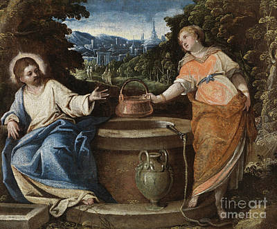 Painting - Christ And The Woman Of Samaria by Jacopo Robusti Tintoretto