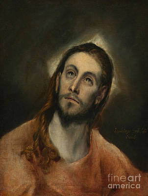 Painting - Christ At Prayer by El Greco