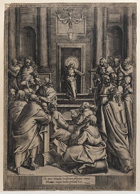 Drawing - Christ Disputing In The Temple by Orazio de Santis