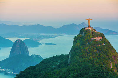 Photograph - Christ Looking Over The City, Rio by Stuart Dee