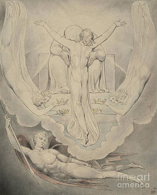 Painting - Christ Offers To Redeem Man by William Blake