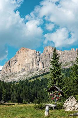 Open Impressionism California Desert - Christ. Rosengarten. Dolomites, Italy by Nicola Simeoni