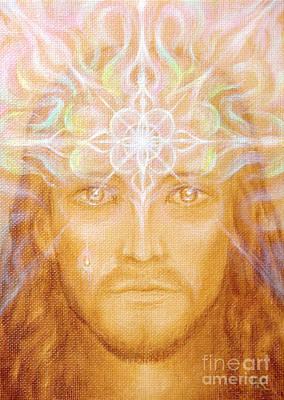 Consciousness Painting - Christ by Tatiana Kiselyova