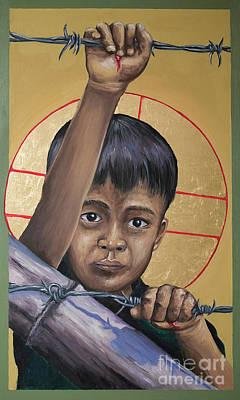 Painting - Christ The Dreamer - Mrctd by Fr Michael Reyes OFM