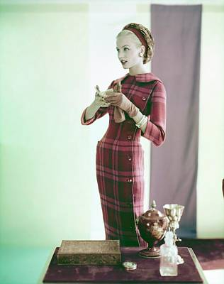Photograph - Christa Vogel Wearing Donald Brooks by Horst P. Horst