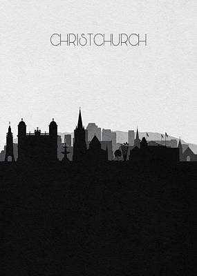 Digital Art - Christchurch Cityscape Art by Inspirowl Design