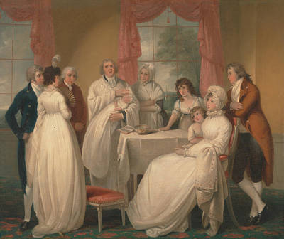 Painting - Christening Of The Heir by William Redmore Bigg