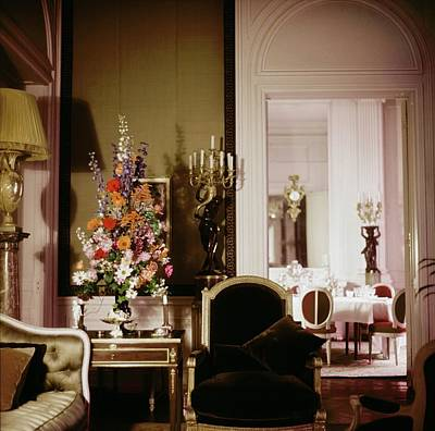 Photograph - Christian Dior's Living Room In Paris by Horst P. Horst