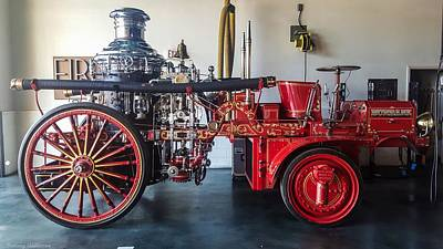 Science Collection Rights Managed Images - Christie Fire Engine Royalty-Free Image by Tommy Anderson