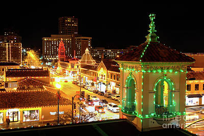 Photograph - Christmas Along Broadway In Kansas City by Jean Hutchison