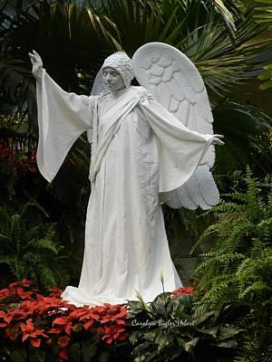Wall Art - Photograph - Christmas Angel A Living Mannequin by Carolyn Hebert