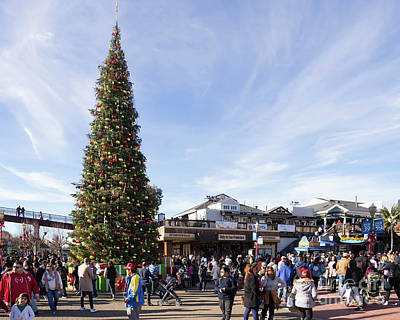 Photograph - Christmas At Pier 39 San Francisco California Dsc6790 by Wingsdomain Art and Photography