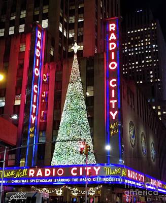 Photograph - Christmas At Radio City Music Hall by CAC Graphics