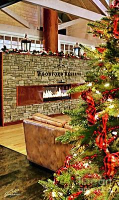Christmas At Woodford Reserve Art Print