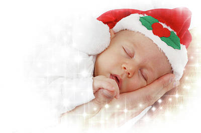 Photograph - Christmas Baby  by Doc Braham