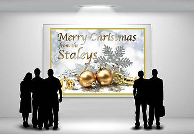 Digital Art - Christmas Card 2018 by Chuck Staley